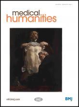 Medical Humanities: 39 (1)